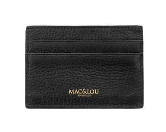 MAC&LOU Calfskin Leather Cardholder Wallet Black