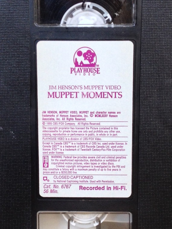 The Vcr From Heck Fifty Cartoons Week Tuesday 50: Muppet Moments 1985 VHS The Muppet Show Rare Video