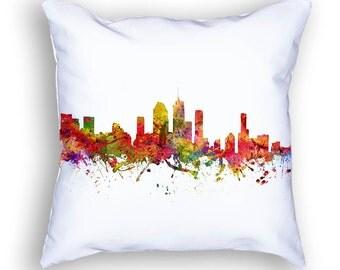 Brisbane Pillow, Brisbane Skyline, Brisbane Cityscape, Throw Pillow, 18x18, Cushion, Home Decor, Gift Idea, Pillow Case 08