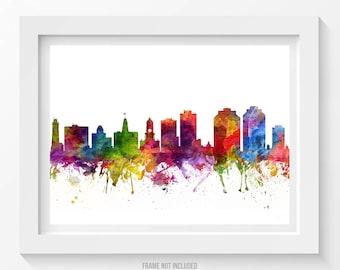 Halifax Poster, Halifax Skyline, Halifax Cityscape, Halifax Print, Halifax Art, Halifax Decor, Home Decor, Gift Idea. CANSHX06P