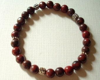 Jasper Gemstone Stretch Bracelet