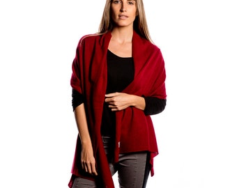 Red 100% Cashmere Wrap