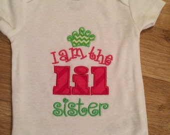 Applique Onesie 'I am the LIL Sister'
