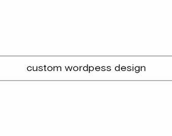 Custom Wordpress Theme Design
