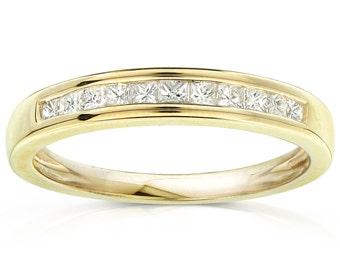 Diamond Band 1/4 carat (ctw) in 14kt Yellow Gold