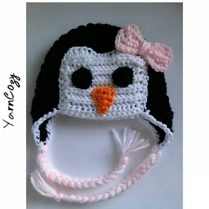 baby penguin hat baby shower gift girl penguin baby shower