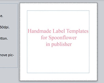 11 Digital Label templates for spoonflower - Publisher 11 sizes!