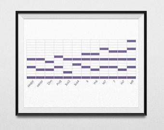 PRINTABLE - Midi Chords Data Poster - Download