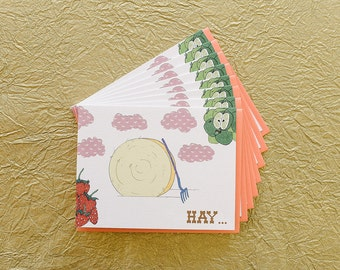 Hay Thanks - Boxed Set of 8 Cards