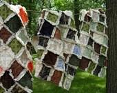 BUCKS, TRACKS & RUBS™ Rustic Baby Rag Quilt - Exclusively from OCKBaby - Camo, bucks, deer tracks, Hunting Baby Bedding, camo photo props