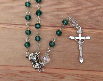 Handmade Catholic Crystal Rosary Beads