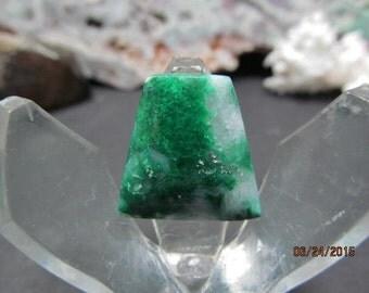 Malachite in quartz freeform cabochon