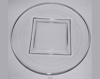 """Cambridge Square #3797 /25 - 9 3/8"""" Crystal Dinner Plate"""