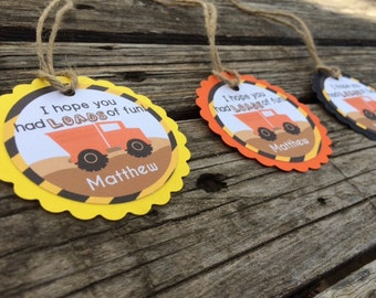 Construction Gift Tags - Construction Party, First Birthday, Birthday Party, Party Tags, Favor Tags