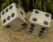 Dice, Wood Dice, Wooden Dice, Large Dice, Large Wooden Dice, Yahtzee, Lawn Dice, Yard Dice