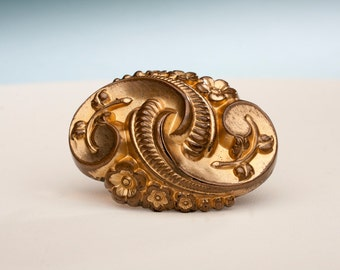 Victorian Holloware Brooch, 1880-1900