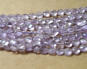 "Amethyst Bead coin 8mm Semiprecious Gemstone Bead Strand Wholesale Beads 16"" Jewelry Supply Wholesale Beads"