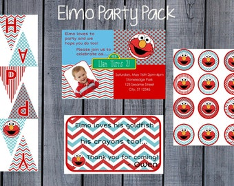 Elmo Birthday Printable Party Pack