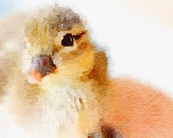 Watercolor nursery digital wall art print, Animals nursery, Duckling instant download, Child room, baby decor, children art,children poster