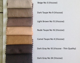 VISCOSE  Color Chart