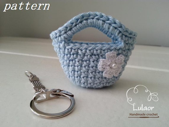... pattern, Crochet bag keychain pattern, Tote bag keychain, crochet