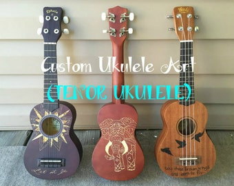 Custom Ukulele Art (Tenor Ukulele)