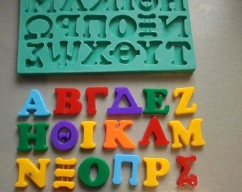 silicone mould greek alphabet sugarcraft cake decorating fondant fimo mold