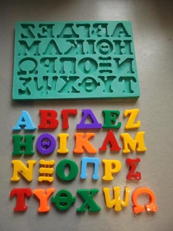 Silicone mould greek alphabet sugarcraft cake decorating fondant