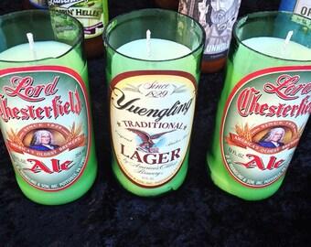 Beer Bottle Candle, 12oz