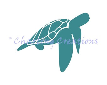 Turtle Silhouette Counted Cross Stitch Pattern