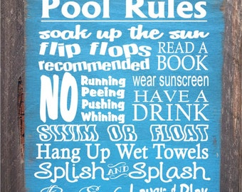 pool sign,  pool decor, Pool Rules Sign, pool house decor, pool house sign, swimming pool sign, backyard decor, 38