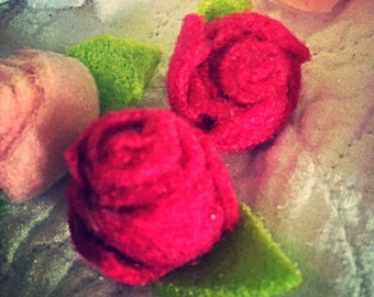 Rose bobby pin clips x2 .. 3 for 2