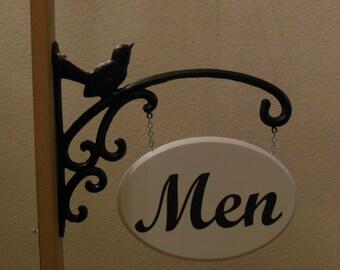 """Hanging """"Men"""" 's Restroom Sign"""