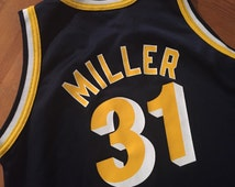 Vintage Indiana Pacers NBA Reggie Miller Basketball Champion Jersey YOUTH L (14-16) Womens M