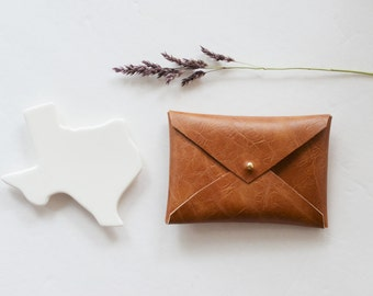 Vegan leather envelope wallet, business card case, card wallet, card holder, envelope clutch