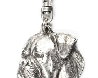 NEW, American Bulldog, dog keyring, key holder, limited edition, ArtDog