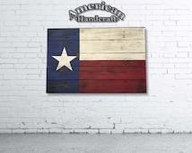 Texas Flag - SALE - Handmade Distressed Wooden Flag