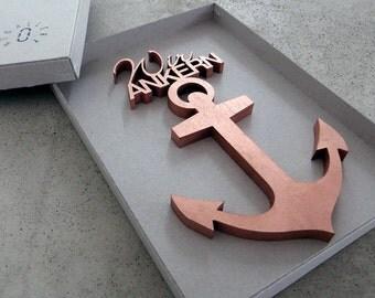 Wir ANKERN - 3D wood lettering