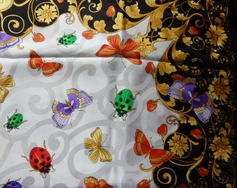 Fashion Basile Women's Scarf New in Package Beautiful with ladybugs butterflies Fashion Accessories Vintage Basile