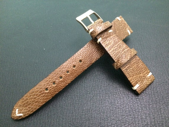 Vintage Ostrich leg Leather Rolex Strap 20mm - Rare, hard to find, Best Quality and Deal Guarantee!!