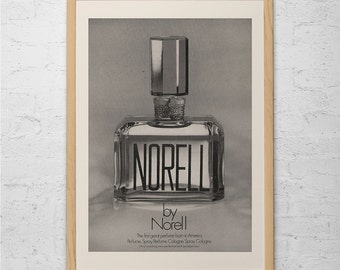 NORELL PERFUME AD - Vintage Perfume Ad - Designer Fashion Ad fashion Lover Wall Art Walk-In Closet Wall Art Bedroom Art Bathroom Poster