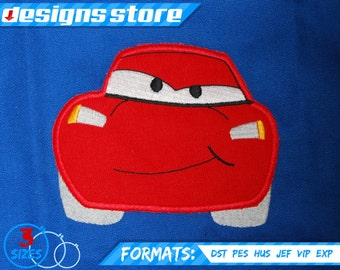 LIGHTNING MCQUEEN APPLIQUE embroidery  machine design pattern