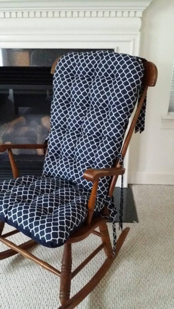 Custom Quatrefoil Rocking Chair Cushions Glider By MayberryandMain