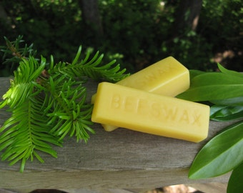 Pure beeswax bar. 1 oz bar. Hand Poured. Unscented. 100% pure beeswax.