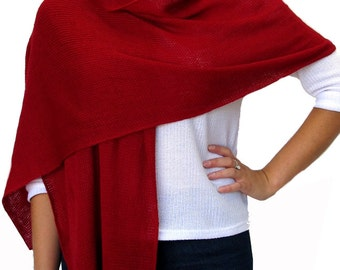 Red wool scarf / wrap