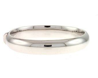 Silver Dome Bangle 12mm