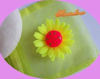marguerite cold porcelain flower beads * the fluorescent * (creator)