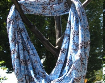 Spotted Dot Dalmatian Infinity Scarf made from Performance Knit