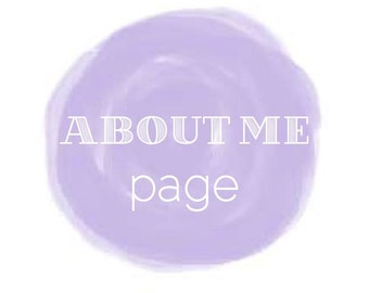 Writing Services: ABOUT ME page