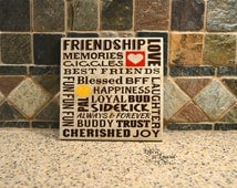 Gift for friend, Friendship Subway Style Sign, Girlfriend Gift, Friendship Gift, Going Away Gift
